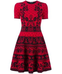 Alexander McQueen | Jacquard Knit Mini Dress Small Polyamide/Polyester/Spandex/Elastane/Viscose