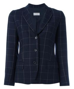 Alberto Biani | Flap Pockets Plaid Blazer 42 Virgin
