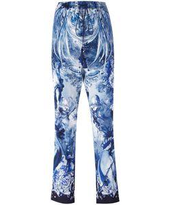 Roberto Cavalli | Nature Print Cropped Trousers 44 Silk/Viscose/Cotton