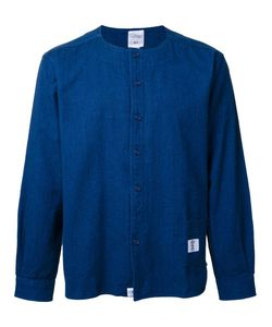 Bedwin & The Heartbreakers | Collarless Denim Shirt 3