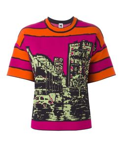 Missoni | M Printed T-Shirt Large Viscose/Cotton/Polyamide/Polyester