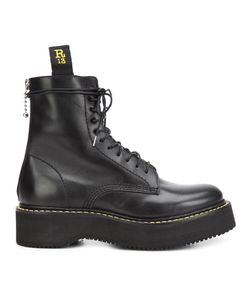 R13   Chunky Sole Lace-Up Boots 38 Calf Leather/Rubber