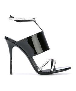 Giuseppe Zanotti Design | Crystal Embellished Sandals 40 Leather/Patent