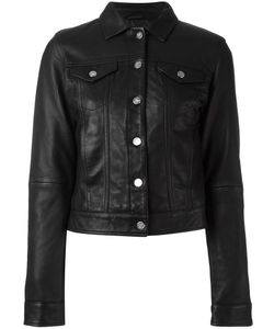 Calvin Klein | Buttoned Jacket Medium Leather/Polyester