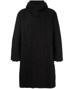 Ahirain | Loose-Fit Zipped Hooded Coat Medium Wool