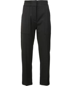 Adam Lippes | Patch Pocket Cropped Trousers 8 Wool