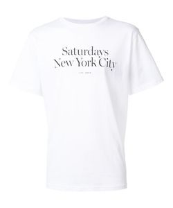 Saturdays Surf Nyc   Logo Print T-Shirt Medium Cotton