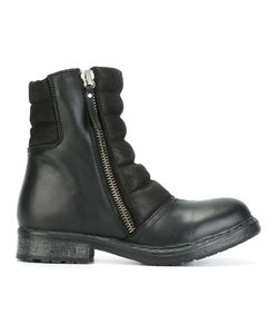 Diesel   Round Toe Zipped Boots 40 Leather/Pig Leather/Rubber