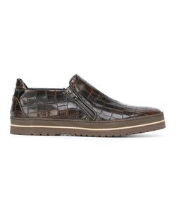 Baldinini | Crocodile Effect Zipped Sneakers 41.5 Rubber/Leather 74721411764983