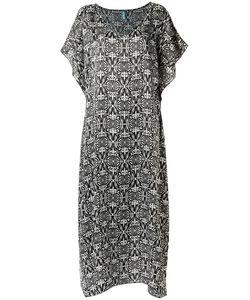 Sub   Long Printed Beach Dress Silk