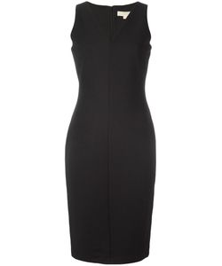 Michael Michael Kors | Knitted V-Neck Dress 6 Polyester/Spandex/Elastane