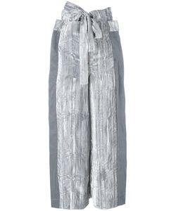 ECKHAUS LATTA | Tied Belt Cropped Trousers Small Rayon