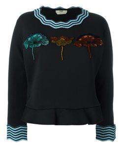 Fendi | Flocked Flower Sweatshirt 38 Cotton/Polyamide