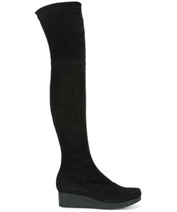 Robert Clergerie | Over The Knee Boots 39 Suede/Leather/Rubber