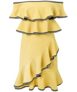 Rebecca Vallance | Courtside Ruffle Mini Dress 10 Polyurethane