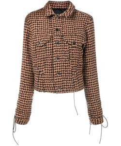 Haider Ackermann | Houndstooth Tie-Cuff Jacket 38 Virgin Wool/Alpaca/Nylon/Cotton