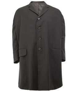 Christopher Nemeth | Boxy Mid Coat Large Polyester/Cupro/Wool