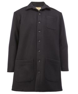 Christopher Nemeth | Patch Pockets Mid Coat Large Nylon/Wool