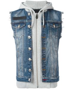 Philipp Plein | Indiano Denim And Hoodie Jacket Xxxl