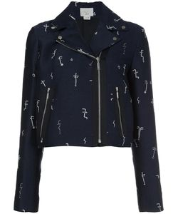 Grey Jason Wu | Embroidered Biker Jacket 4 Polyester
