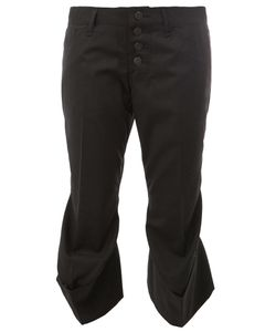 Christopher Nemeth | Flared Hem Cropped Trousers Small Cupro/Wool