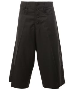 Christopher Nemeth | Pleated Detailing Cropped Trousers Small Cupro/Wool