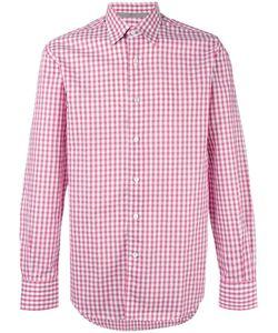 Canali   Checked Shirt Medium Cotton/Linen/Flax