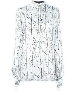 Proenza Schouler   Branch Print Shirt 8 Silk/Viscose