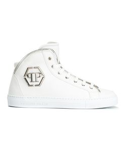 Philipp Plein | Anniston Hi-Top Sneakers 44 Leather/Rubber S17smsc009411769911