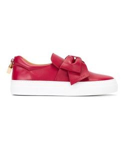 Buscemi | Bow Detail Slip-On Sneakers 37 Leather/Rubber