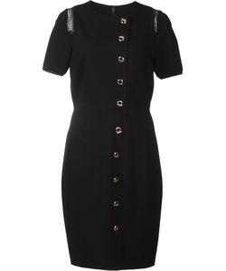 Elie Tahari   Dislocated Button Fastening Dress 10 Rayon/Nylon/Spandex/Elastane