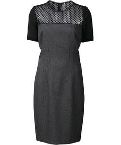 Elie Tahari   Sheer Panel Dress 6 Polyester/Viscose/Cotton/Spandex/Elastane