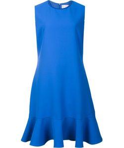 Victoria, Victoria Beckham   Victoria Victoria Beckham Peplum Hem Dress 14 Silk/Polyester