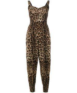 Dolce & Gabbana | Leopard Print Jumpsuit 44 Silk/Nylon/Spandex/Elastane/Silk
