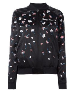 Opening Ceremony | Embroidered Bomber Jacket Medium Silk/Polyester