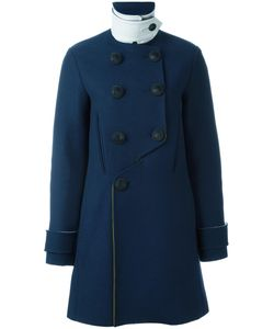 Cedric Charlier | Cédric Charlier Double Breasted Coat 40 Virgin Wool/Polyester/Rayon/Rayon