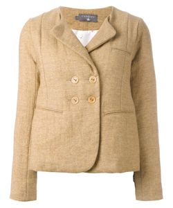 Cotélac   Collarless Buttoned Blazer 3 Acetate/Polyester/Wool/Polyamide