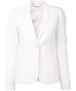 Elie Tahari   Macramé Sleeves Blazer 12 Triacetate/Polyester/Cotton