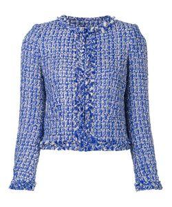Alice + Olivia   Classic Tweed Jacket Medium Polyester/Spandex/Elastane/Acrylic/Cotton
