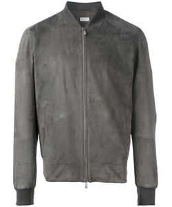 Brunello Cucinelli | Zipped Bomber Jacket Xl Suede/Nylon