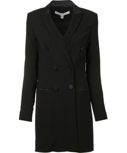 Veronica Beard | Fitted Double Breasted Coat 4 Viscose/Spandex/Elastane/Wool/Silk