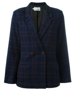 Cotélac | Checked Buttoned Blazer 3 Acetate/Viscose/Wool/Polyamide
