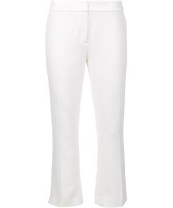 Elie Tahari   Straight Cropped Trousers 8 Triacetate/Polyester