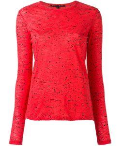 Proenza Schouler   Splatter Print Longsleeved T-Shirt Xs Cotton