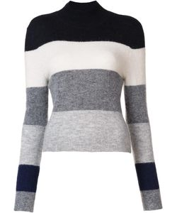 Equipment | Turtleneck Striped Jumper Small Alpaca/Nylon/Spandex/Elastane