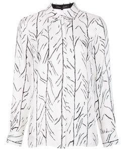 Proenza Schouler   Branch Print Shirt 12 Silk