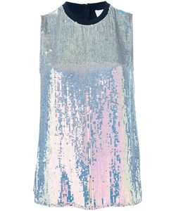 3.1 Phillip Lim   Iridescent Sequin Top Small Silk/Viscose/Spandex/Elastane