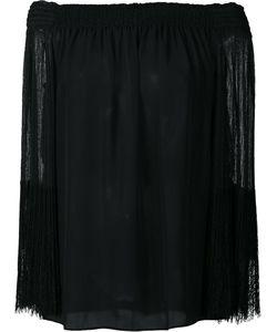Kobi Halperin | Off-Shoulders Sheer Blouse Small Silk