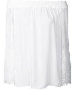 Kobi Halperin | Off-Shoulders Sheer Blouse Medium Acetate/Silk