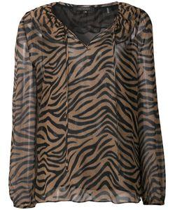 Kobi Halperin | Tiger Print Sheer Blouse Large Silk